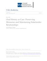 Oral History as Care: Preserving Memories and Maintaining Stakeholder Relationships